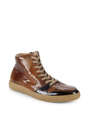Bacoli Leather Sneakers in Brown