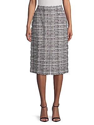 Distressed Printed Skirt