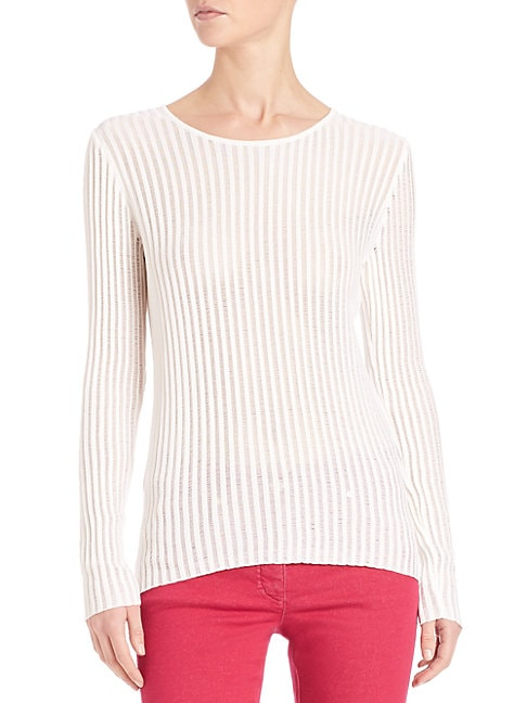 Lightweight Ribbed Pullover