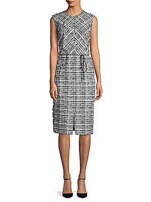 Frayed Checkered Dress
