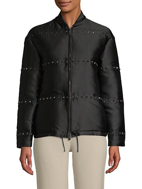 Long-Sleeve Studded Jacket