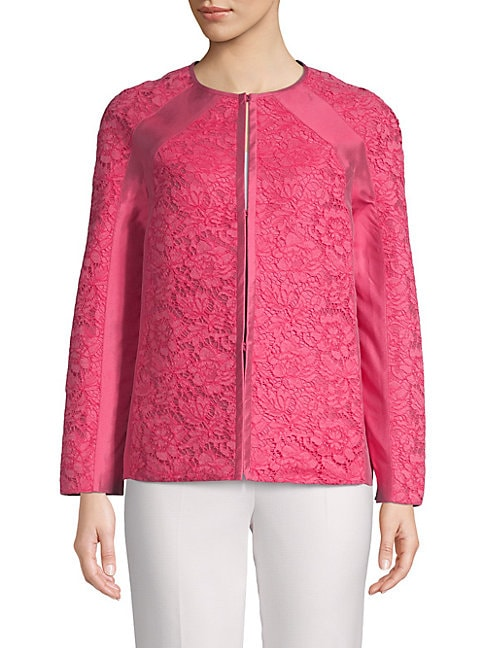 Floral Lace Silk Jacket