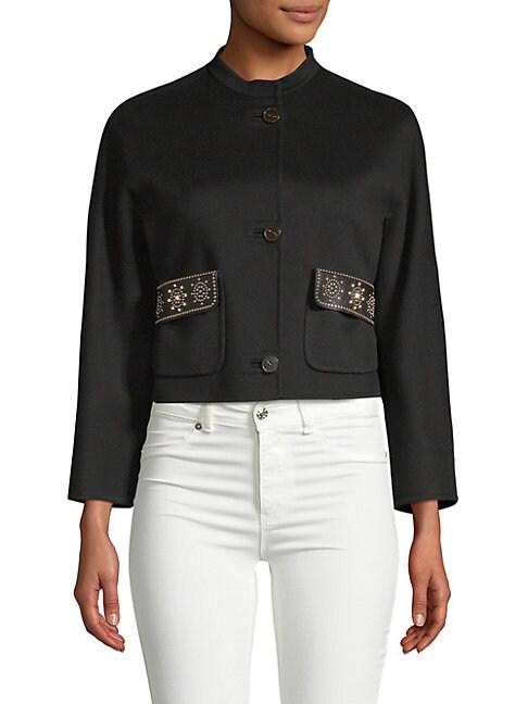 Studded High Neck Jacket