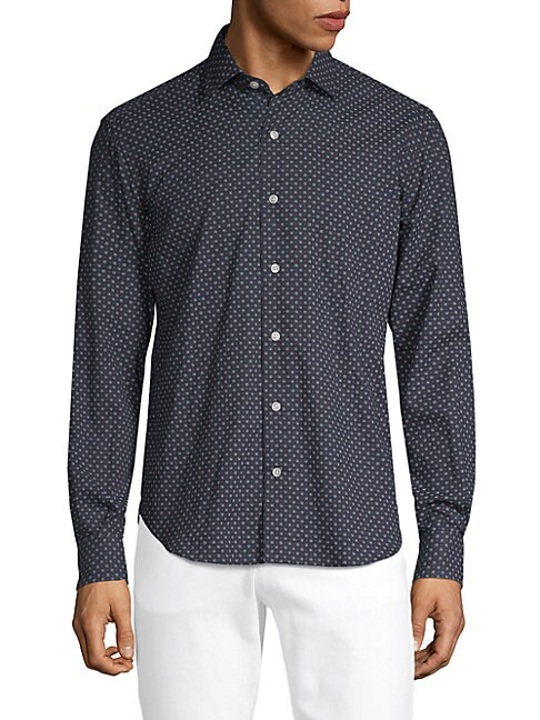CULTURATA | Printed Cotton Dress Shirt | Goxip