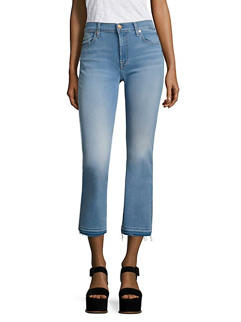 7 FOR ALL MANKIND | B(air) Released Hem Cropped Bootcut Jeans | Goxip