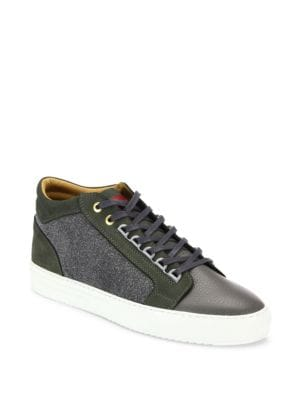 ANDROID HOMME Leather Blend Sneakers in Grey