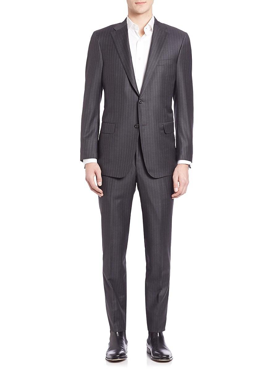 Men's Pinstriped Woolen Suit