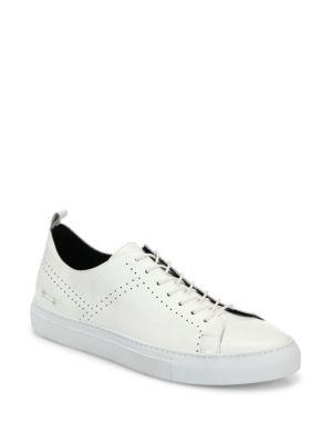 URI MINKOFF Soprano Leather Sneakers in White