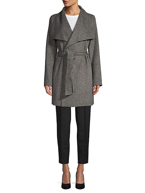 Ella Double-Faced Wrap Coat