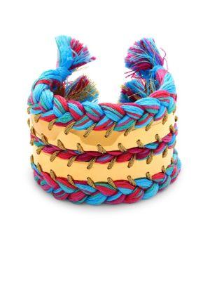 AUR LIE BIDERMANN Copacabana Braided Cuff Bracelet in Positano