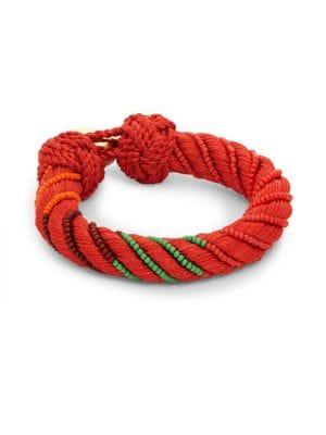 AUR LIE BIDERMANN Maya Crystal Beaded Bracelet in Vermillion