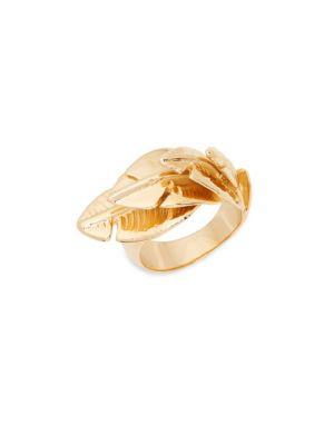 AUR LIE BIDERMANN Talitha Goldplated Leaf Ring