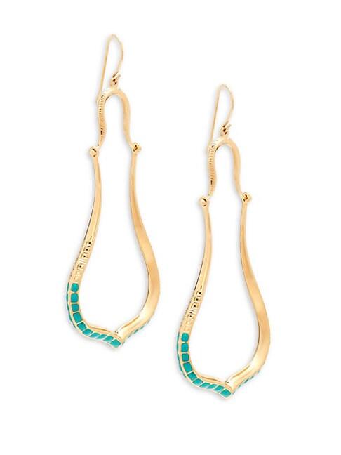 AUR LIE BIDERMANN Apache Turquoise Goldplated Chandelier Earrings
