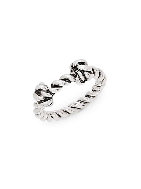 AUR LIE BIDERMANN | Palazzo Sterling Silver Knot Ring | Goxip