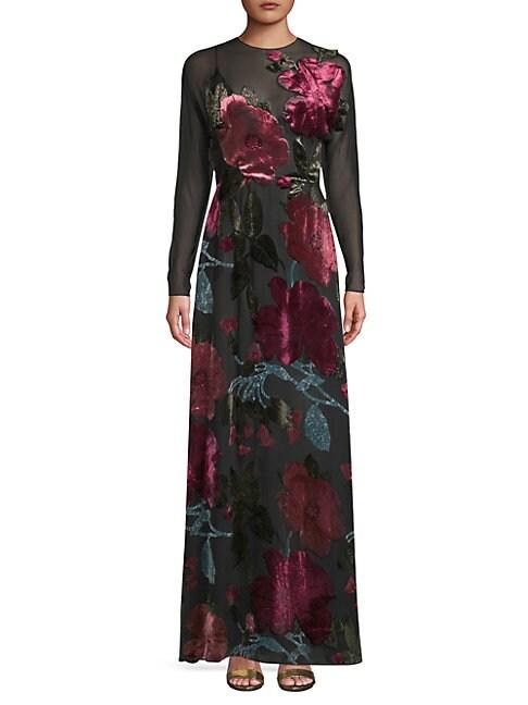 Velvet Floral Gown