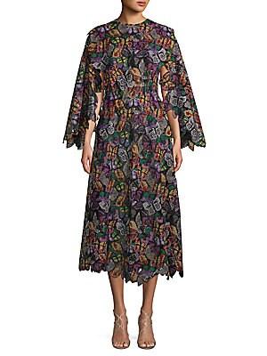 Butterfly Long-Sleeve Dress