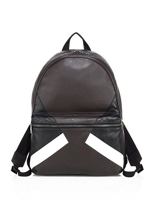 Retro Modernist   Leather Backpack