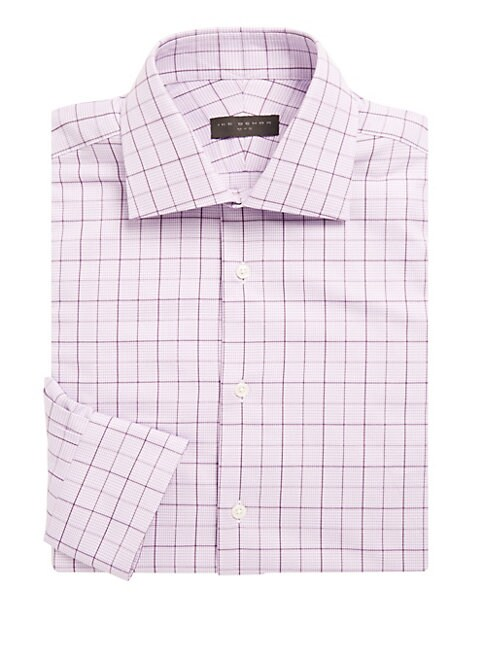 Cotton Overcheck Dress Shirt