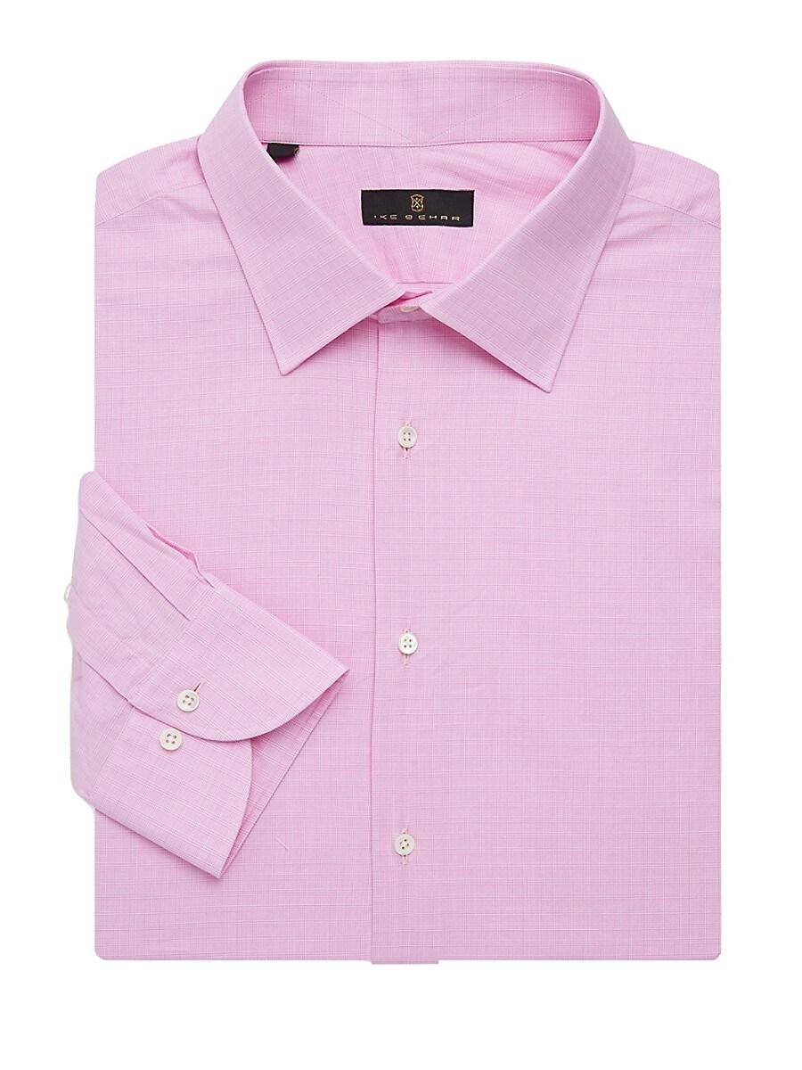 Men's Regular-Fit Shadow Glen Plaid Dress Shirt