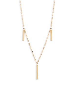 Lana Jewelry Triple Bar Charm Necklace in 14K Gold