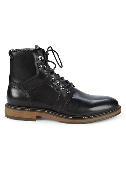 Baylor Leather Combat Boots