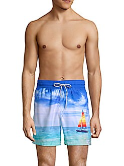 Blueport - Velero Sailboat Printed Swim Shorts