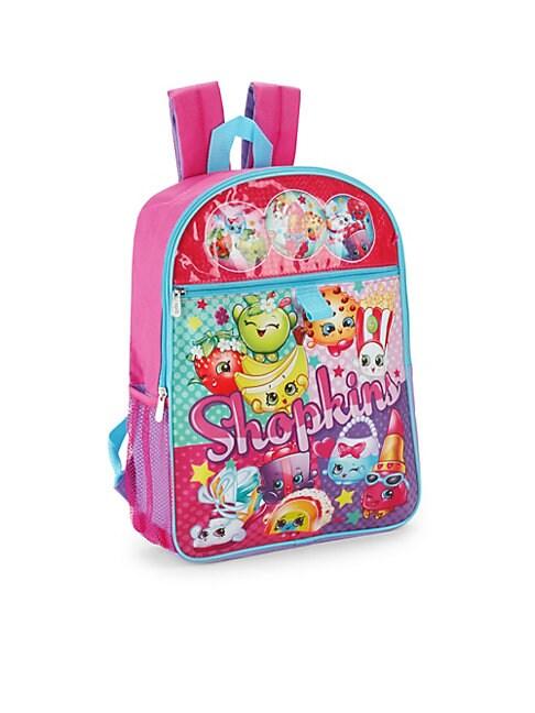 Girl's Shopkins Five-Piece Backpack Set