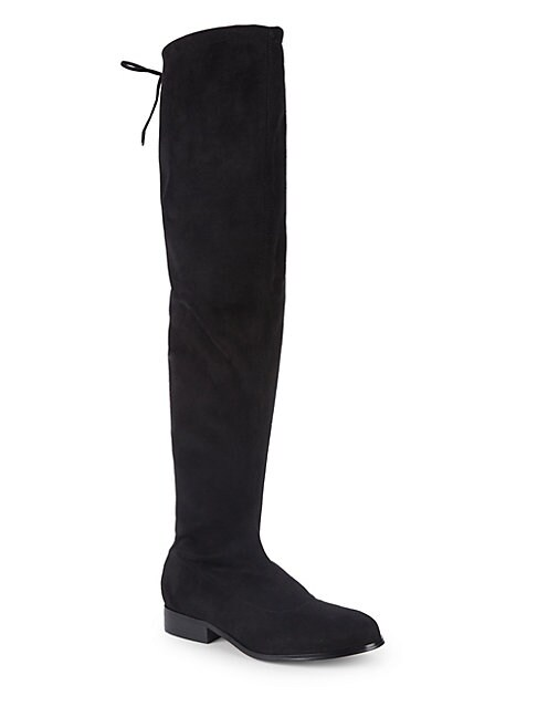 SAKS FIFTH AVENUE | Suede Over-The-Knee Stretch Boots | Goxip