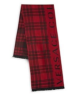 5cf6e64ead9 QUICK VIEW. Versace Collection. Striped Logo Scarf