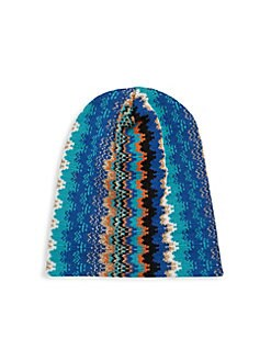 Missoni Chevron Knit Beanie 33c3904fd410