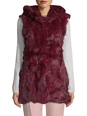 6f5d5168c5bd2 Adrienne Landau - Dyed Fox and Rabbit Fur Vest - saksoff5th.com