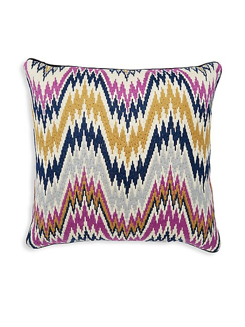 WORTH AVENUE BARGELLO WOOL PILLOW