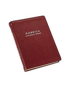 LEATHER-BOUND AMERICA NATIONAL PARKS BOOK