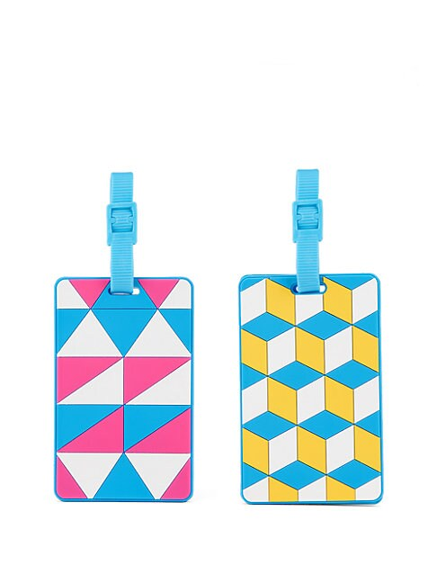 FLIGHT 001 Two-Piece Rubber Luggage Tag Set