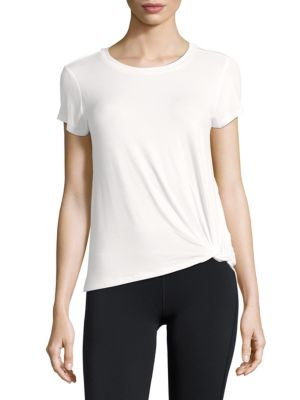 Andrew Marc Knotted Short-Sleeve Tee