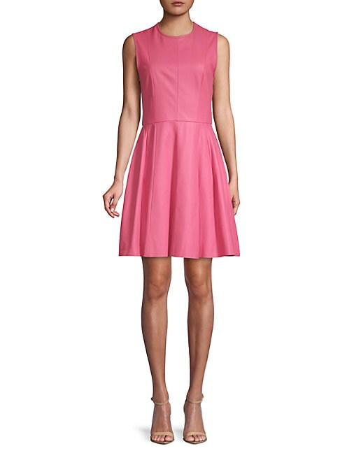 Sleeveless Leather Mini Dress
