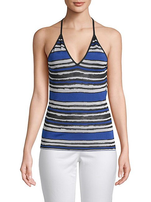 Stripe Halter Top