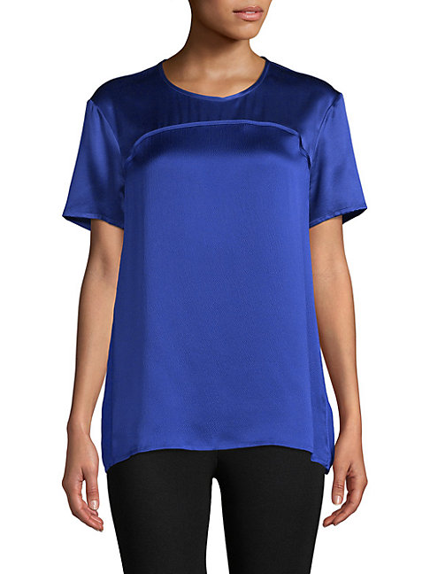 Short-Sleeve Silk Top