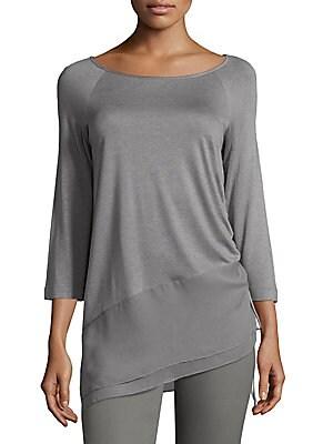 Heavy Sleek Asymmetrical Blouse