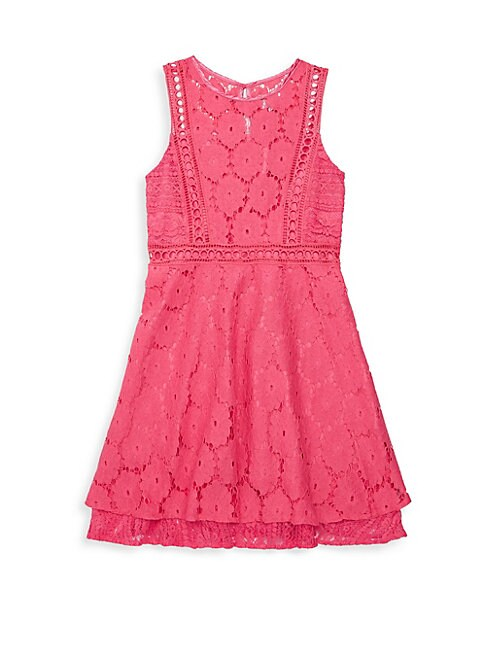 Girl's Lace Peplum Dress