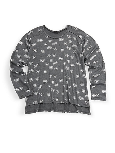 Girl'S Pullover Graphic-Print Tee