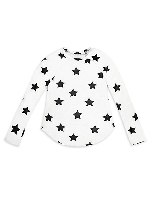 Girls Pullover Star Prints Tee