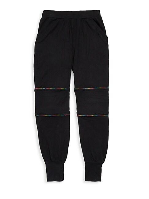 Girls Rainbow Zip Jogger Pants