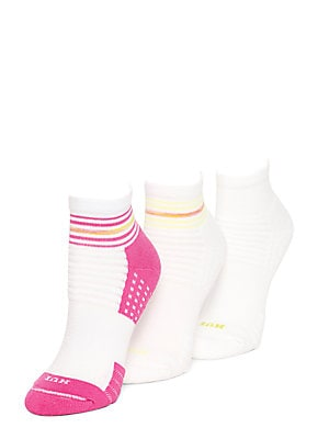 Air Cushion Quarter Top Ankle Socks, Three-Pack