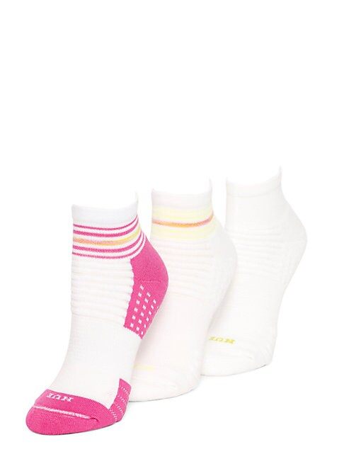 Air Cushion Quarter Top Ankle Socks, 3-Pack