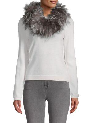 Adrienne Landau Dyed Fox Fur Scarf