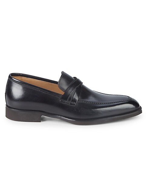 DI BIANCO | Leather Slip-On Loafers | Goxip