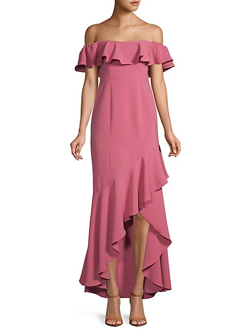 Cabrera Ruffled Hi-Lo Dress