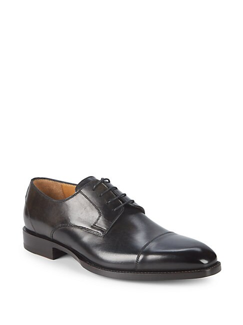DI BIANCO | Deco Lace-Up Leather Oxfords | Goxip