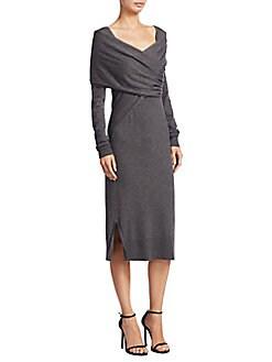 Donna Karan - Wrap-Front Dress
